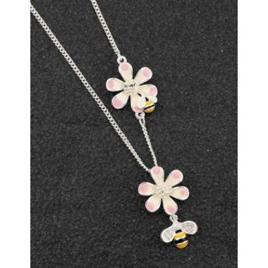 294532 HAND PAINTED ODD BEES NECKLACE