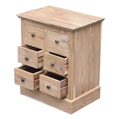 6 SMALL DRAWER CABINET W/W WAS £160.00