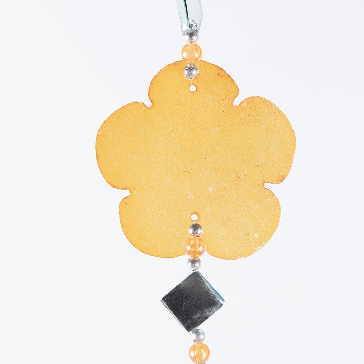 CAPIZ SHELL HANGER WITH MIRROR MULTI FLOWER