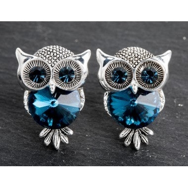 MIDNIGHT OWL EARRINGS