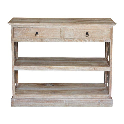 LOW XX STYLE BUFFET BOOKCASE - RUSTIC WHITE WASH