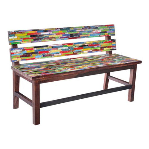 BWD BENCH WITH BACK SMALL 1.1mt