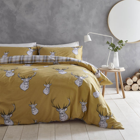 STAG OCHRE DOUBLE + 2 PILLOW CASES