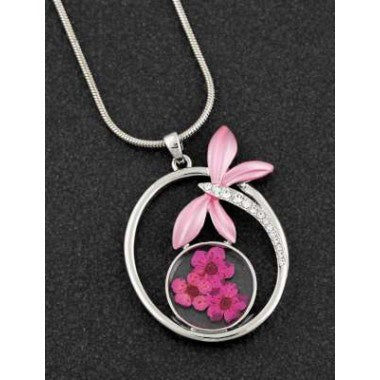 294603 ETERNAL FLOWERS DRAGONFLY NECKLACE