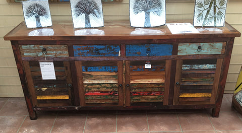 BWD 4 DRAWER 4 DOOR DARK CABINET
