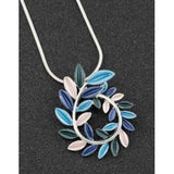 294386 LUNAR TONES LEAF CURL NECKLACE