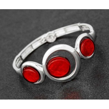 RED CIRCLES BANGLE