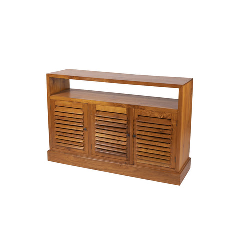 MEDIA 3 LOUVRE 1 SHELF TEAK