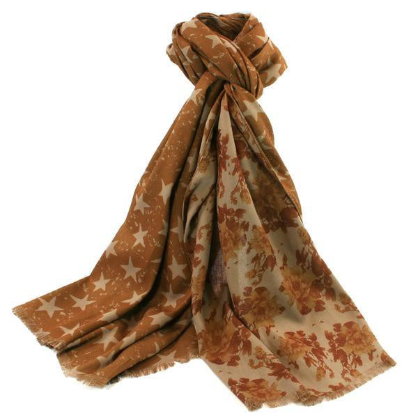 CALCI 2 SIDED SCARF - GOLD