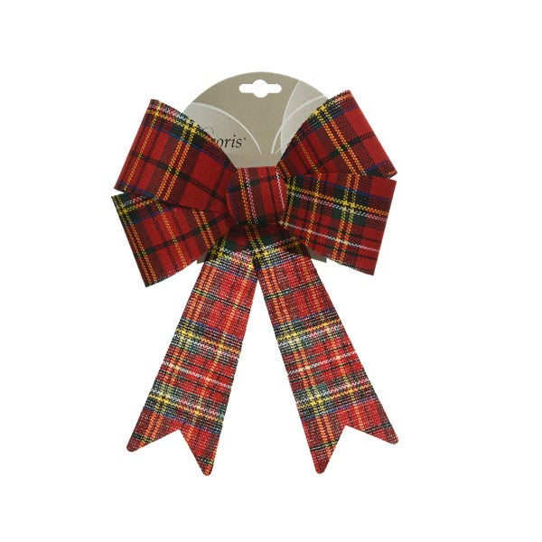 TARTAN DOUBLE BOW ON CARD
