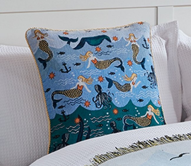 MERMAID TAPESTRY CUSHION COVER