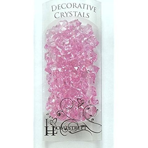 ACRYLIC CRYSTALS - LIGHT PINK 2CM