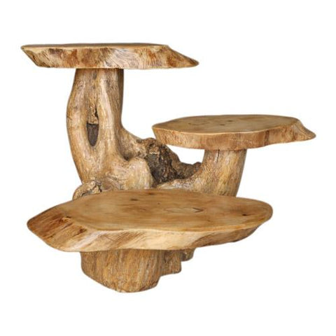 COFFEE WOOD 3 LEAF TABLE