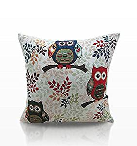 TOOWIT 3 OWL CUSHION COVER