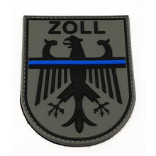 Zoll Thin Blue Line Bundesadler Rubber Patch - Polizeimemesshop