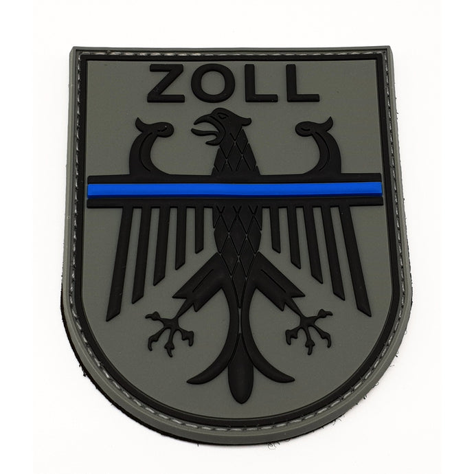 Zoll Thin Blue Line Bundesadler Rubber Patch