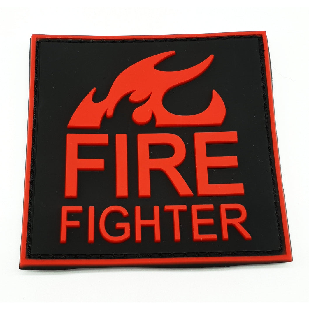 Fire Fighter Rubber Patch