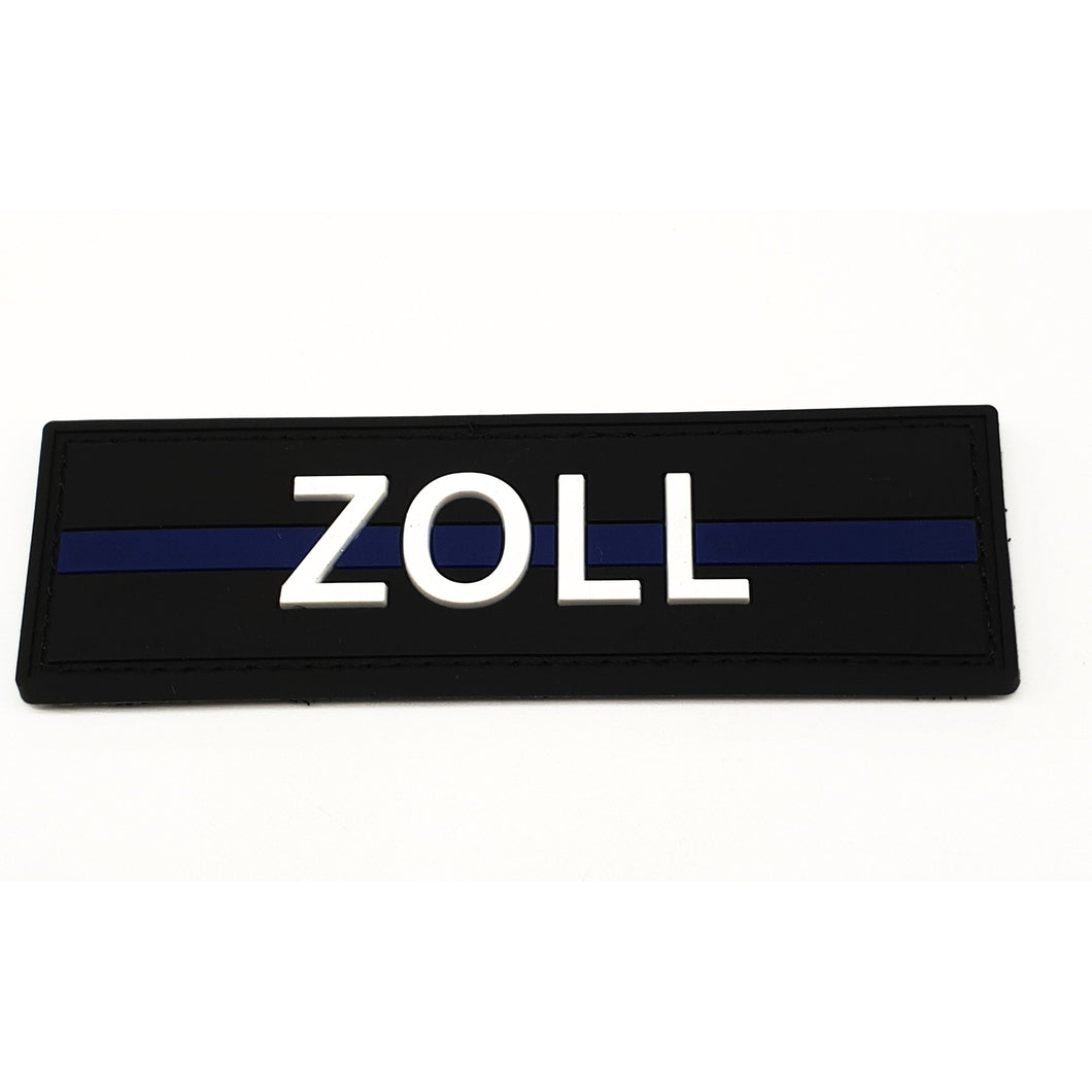 Zoll Thin Blue Line Rubber Patch - Polizeimemesshop