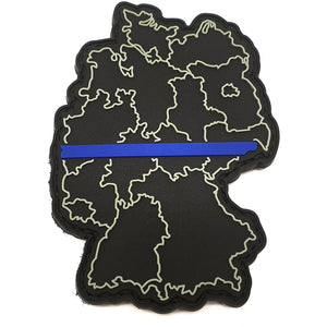 Thin Blue Line Deutschland Rubber Patch - Polizeimemesshop