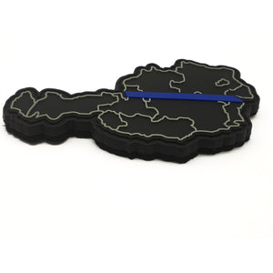 Thin Blue Line Österreich Rubber Patch - Polizeimemesshop