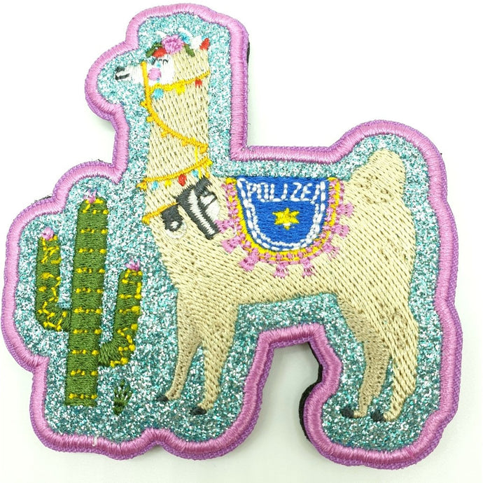 Polizei Lama Textil Patch
