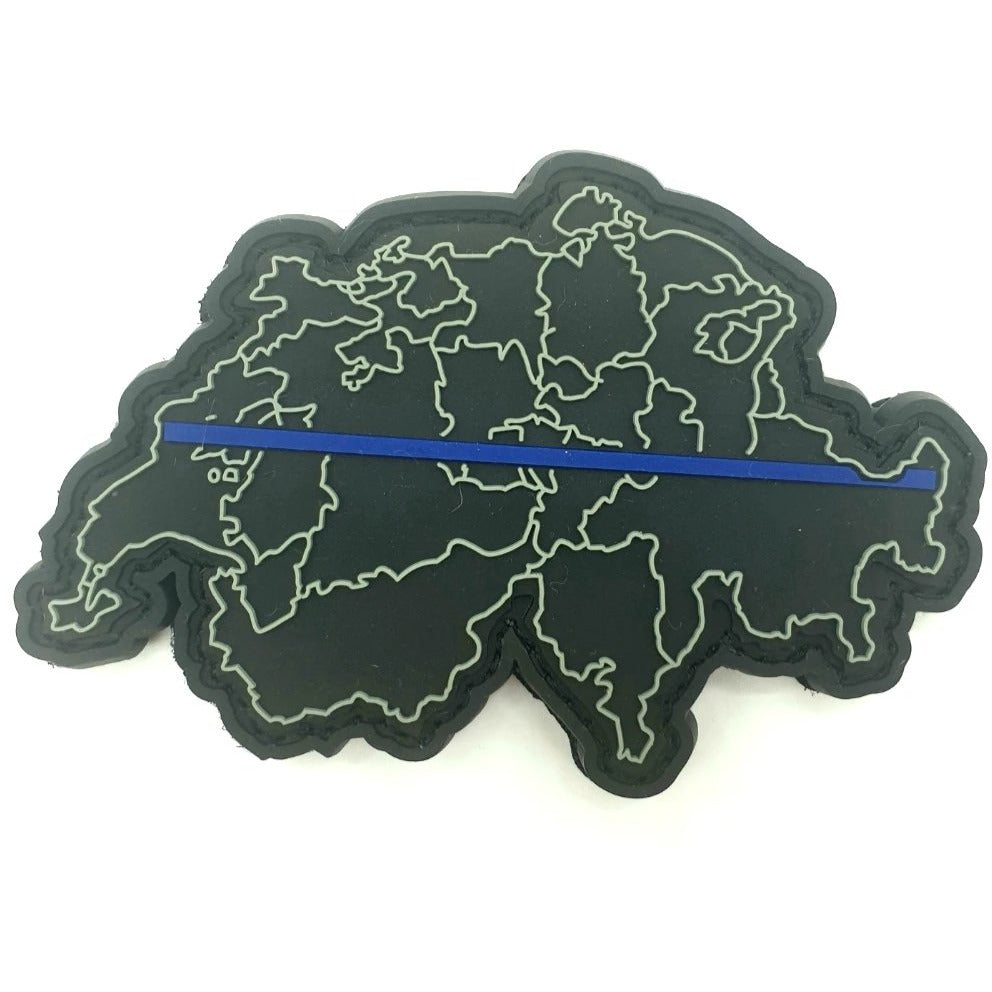 Thin Blue Line Schweiz Patch - Polizeimemesshop