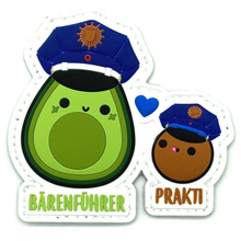 Avocado Bärenführer & Prakti Rubber Patch - Polizeimemesshop