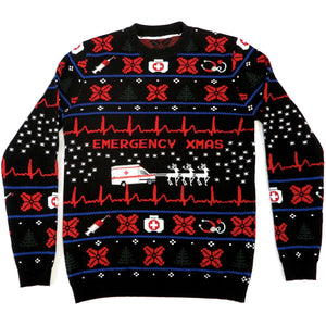 Emergency Xmas  Sweater Unisex - Polizeimemesshop