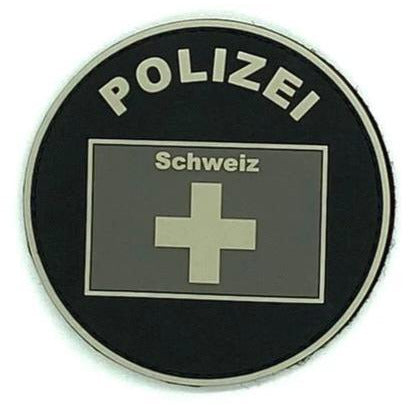 Polizei Schweiz Black Ops Rubber Patch - Polizeimemesshop