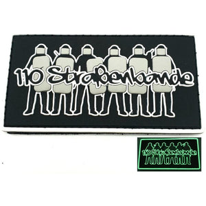 "Straßenbande 110 ""Glow in the Dark"" Rubberpatch - Polizeimemesshop"