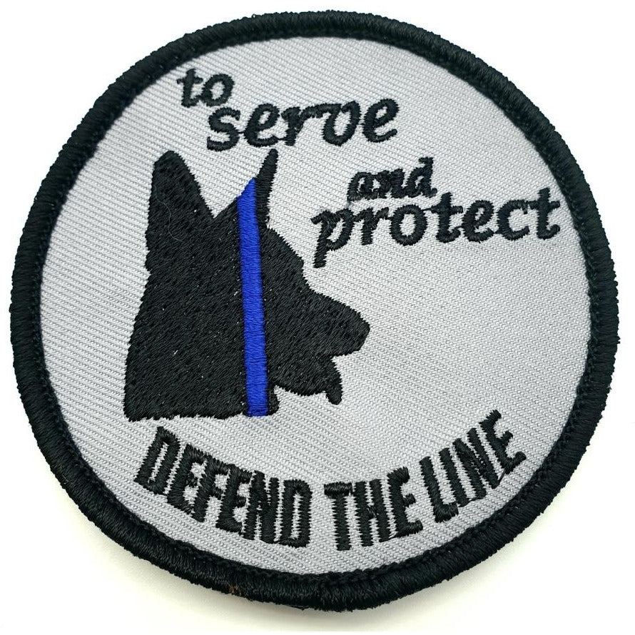 Defend The Line K9 Patch - Polizeimemesshop