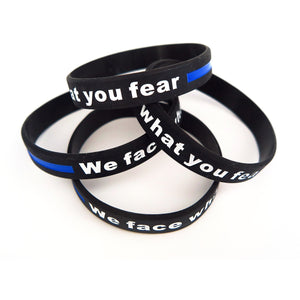 We Face What You Fear Armband - Polizeimemesshop