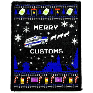 Customs Xmas Patch - Polizeimemesshop