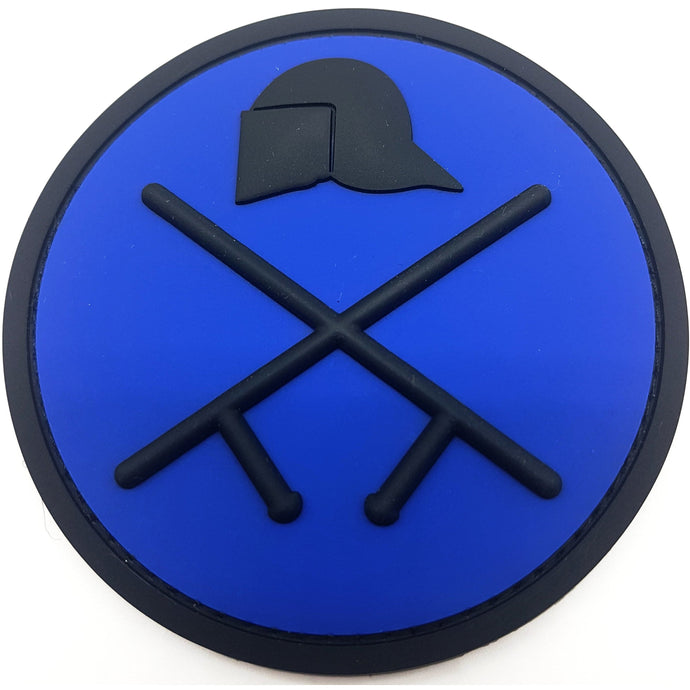 Riot Police Deep Blue Rubber Patch