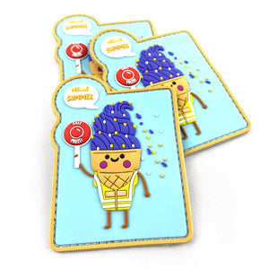 Ice Cream Rubber Patch - Polizeimemesshop