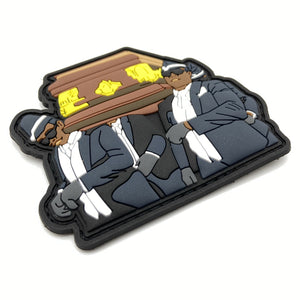 Coffin Dance Rubber Patch - Polizeimemesshop