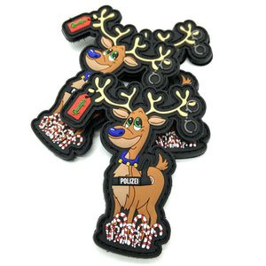 Blue Nose Rudolph Rubber Patch