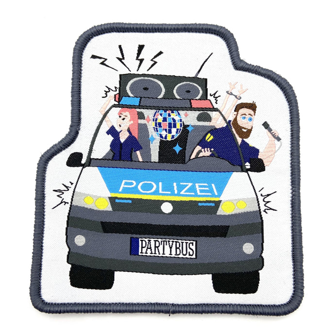 Polizeipartybus Textil Patch
