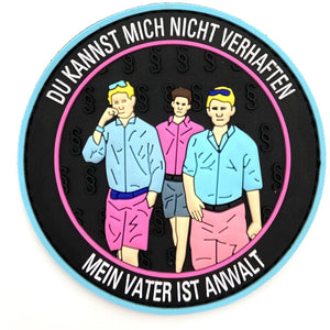 No Prison Rubber Patch - Polizeimemesshop