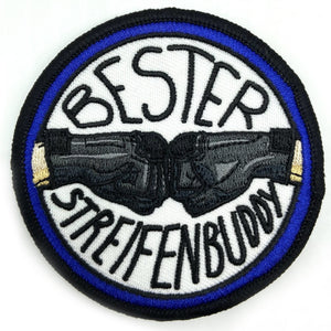 Bester Streifenbuddy Textil Patch