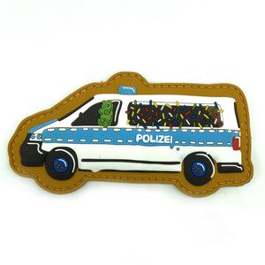Polizei Keksstreife Rubber Patch