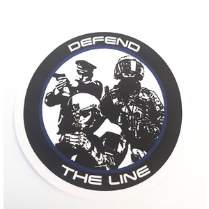 Defend the Line Sticker 10er Pack - Polizeimemesshop