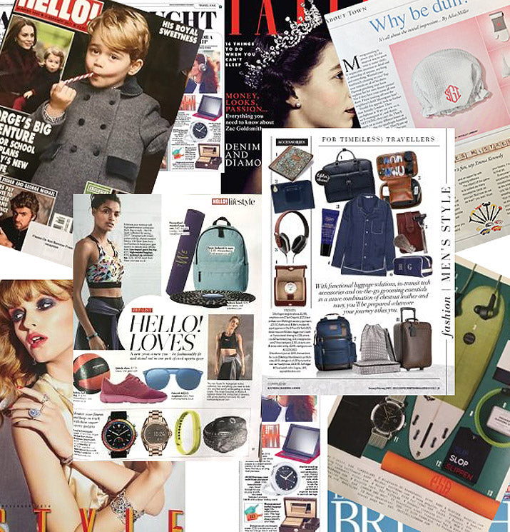 The press is talking about our monogrammed bags