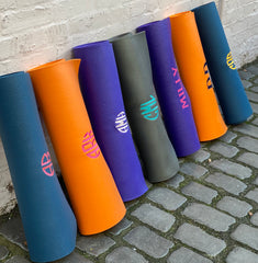 yoga mats personalised with embroidered monogram