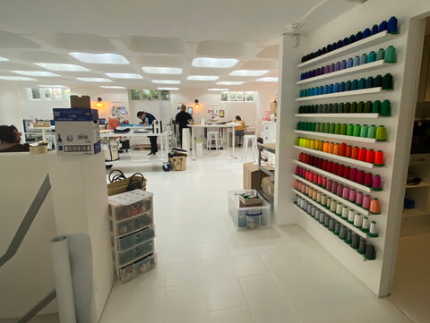 Embroidery studio in Parsons Green