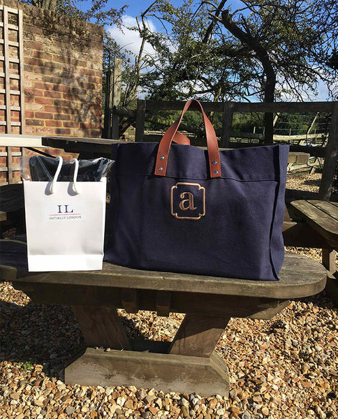 Tote bag on picnic bench
