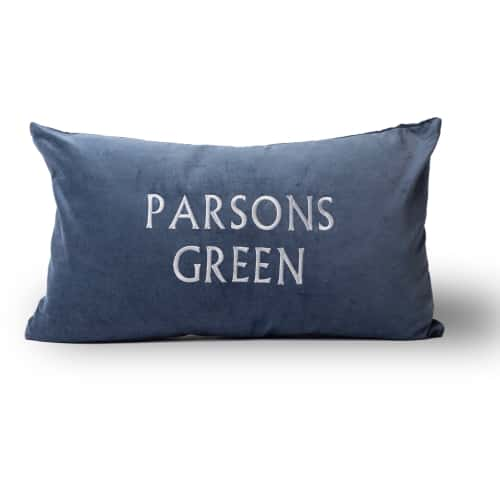 Small Velvet Cushion Cover - Initially London