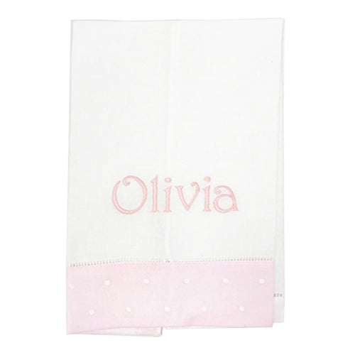 Dotty Border Guest Towel - Initially London
