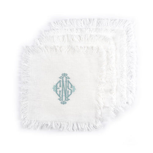 Fringed Coasters (set of 4) - Initially London