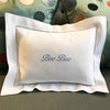 Small Dot Border Pillow - Initially London